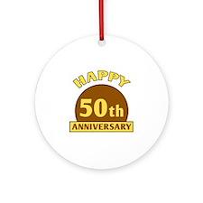 50th Wedding Anniversary Ornament (Round)