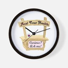 Acai Stand Wall Clock