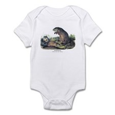 Audubon Woodchuck Groundhog Infant Bodysuit