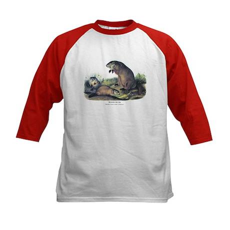 Audubon Woodchuck Groundhog (Front) Kids Baseball