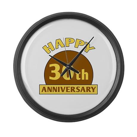 30th Wedding Anniversary Large Wall Clock