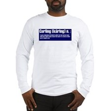 """""""Curling Defined"""" Long Sleeve T-Shirt"""