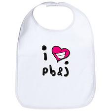 I Heart pb & j Bib