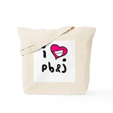 I Heart pb & j Tote Bag