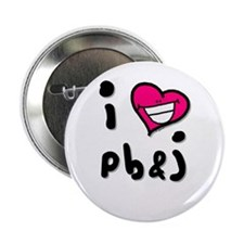 I Heart pb & j Button