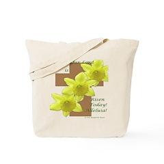 Easter Daffodils on Cross Tote Bag