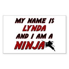 my name is lynda and i am a ninja Decal