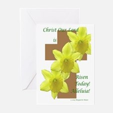 Easter Daffodils on Cross Greeting Cards (Pk of 20