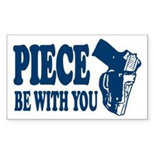 PIECE Be With You Rectangle Decal