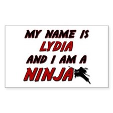my name is lydia and i am a ninja Decal
