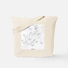 chicken parachute tote bag