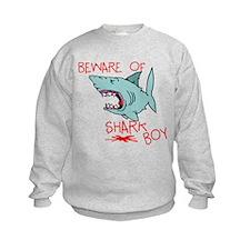 Beware Of Shark Boy Sweatshirt