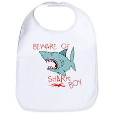 Beware Of Shark Boy Bib