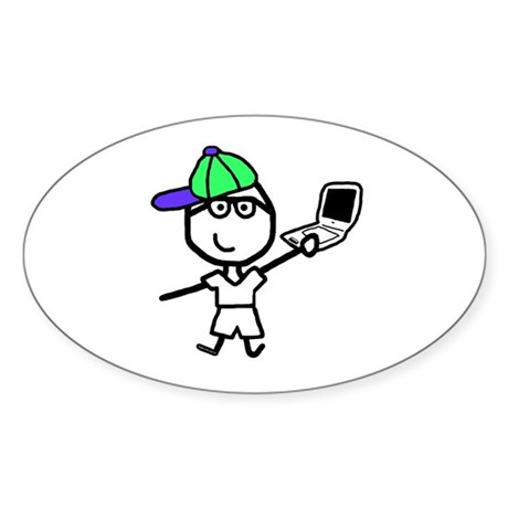 Boy & Mac - Schedules Oval Sticker (50 pk)