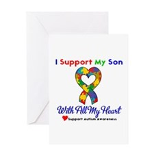 Autism ISupportMy Son Greeting Card