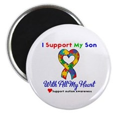 """Autism ISupportMy Son 2.25"""" Magnet (100 pack)"""