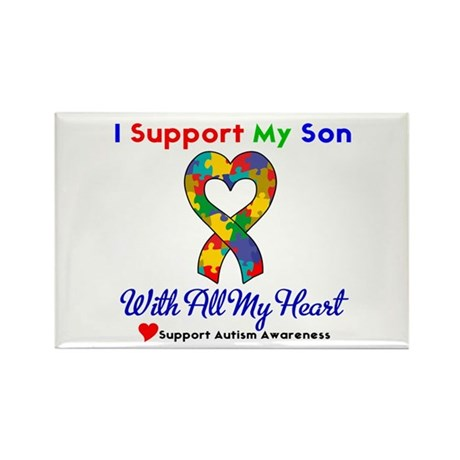 Autism ISupportMy Son Rectangle Magnet (10 pack)