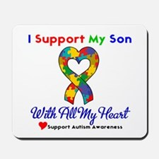 Autism ISupportMy Son Mousepad