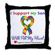 Autism ISupportMy Son Throw Pillow
