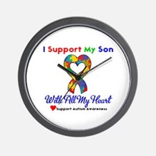 Autism ISupportMy Son Wall Clock