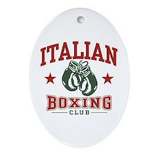 Italian Boxing Oval Ornament