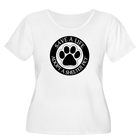 Adopt a Shelter Pet Women's Plus Size Scoop Neck T
