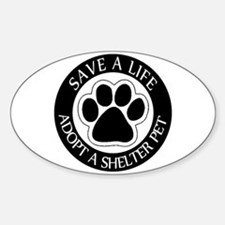Adopt a Shelter Pet Oval Decal
