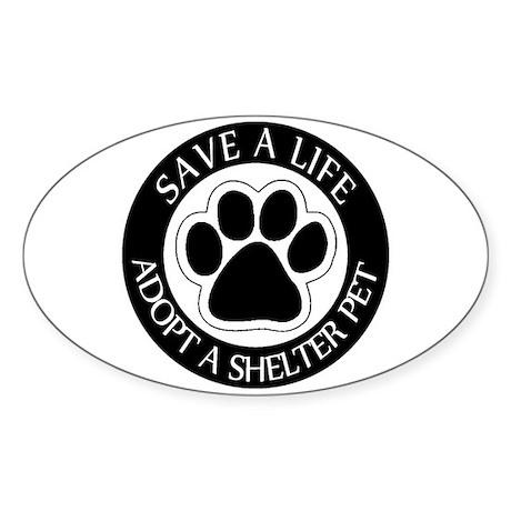 Adopt a Shelter Pet Oval Sticker