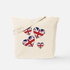 Four British Hearts Tote Bag