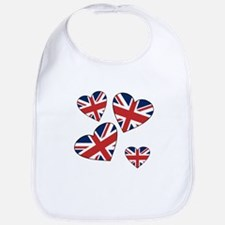 Four British Hearts Bib