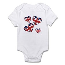 Four British Hearts Infant Bodysuit