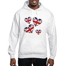 Four British Hearts Hoodie