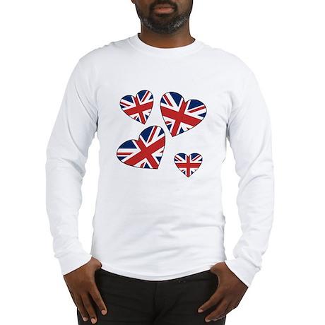 Four British Hearts Long Sleeve T-Shirt