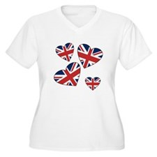 Four British Hearts T-Shirt