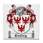 Courcy Coat of Arms Tile Coaster