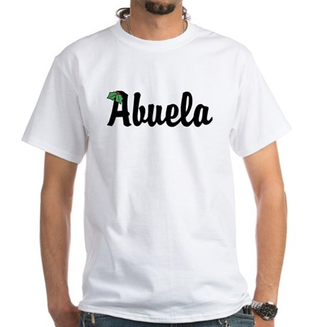 Abuela Holiday Holly White T-Shirt