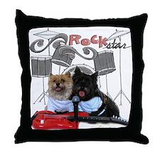 Rockin' Cairn Terrier Throw Pillow