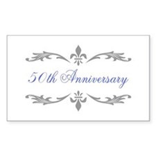 50th Wedding Anniversary Rectangle Decal