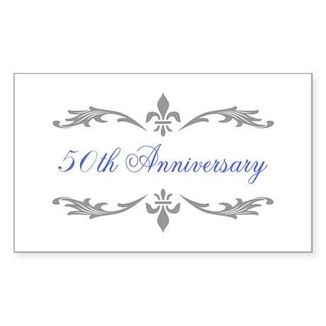 50th Wedding Anniversary Rectangle Sticker