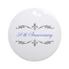 50th Wedding Anniversary Ornament (Round)