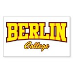 Berlin College Rectangle Sticker