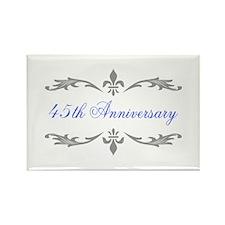 45th Wedding Anniversary Rectangle Magnet