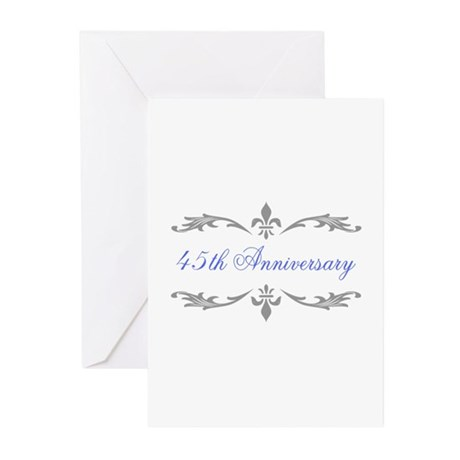 45th Wedding Anniversary Greeting Cards (Pk of 20)