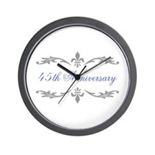 45th Wedding Anniversary Wall Clock