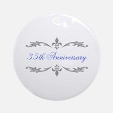 35th Wedding Anniversary Ornament (Round)
