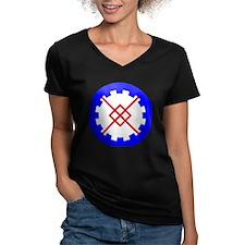 Innilgard populace Women's V-Neck Dark T-Shirt