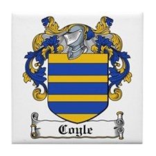Coyle Coat of Arms Tile Coaster
