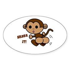 Monkey Shake Oval Decal