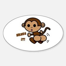 Monkey Shake Oval Decal