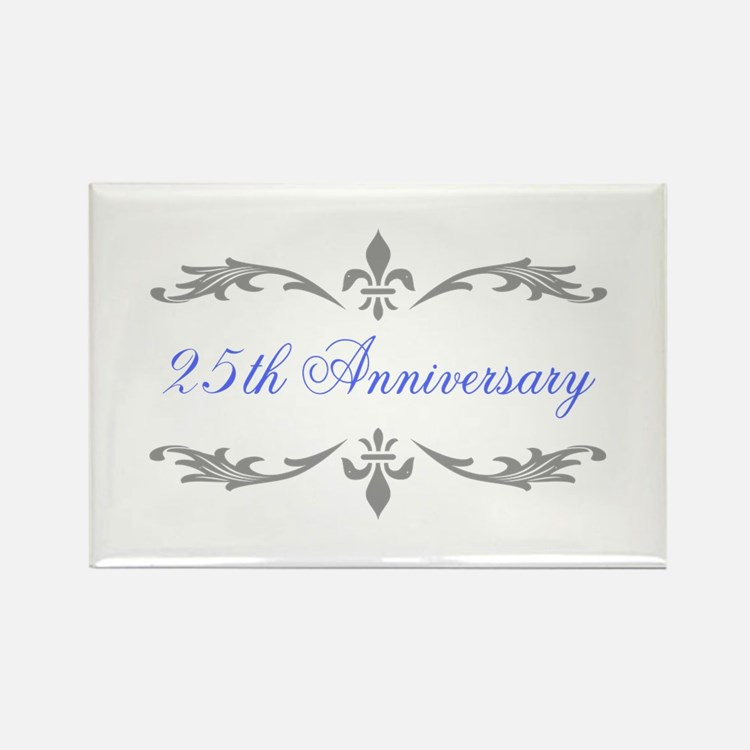 25th Wedding Anniversary Rectangle Magnet